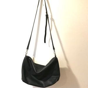 Black Crossbody Bag, Soft & Roomy, Faux Leather